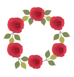 frame of pretty rose isolated icon vector image