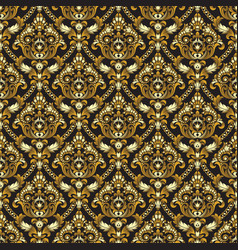 Gold shining vintage seamless pattern background vector