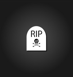 grave rip icon flat vector image