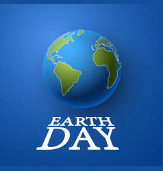 happy day earth vector image
