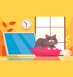 Home pets growth composition vector