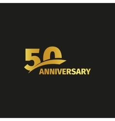 Isolated abstract golden 50th anniversary logo on vector image