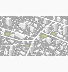 isometric city map template vector image