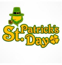 leprechaun lettering logo vector image vector image