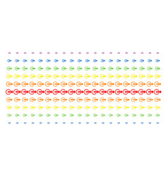 Logout shape halftone spectral pattern vector