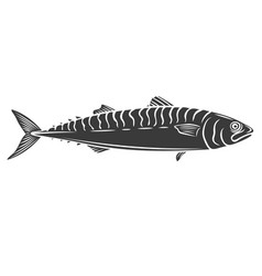 mackerel fish glyph icon vector image