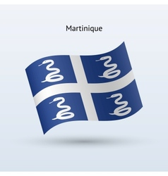 Martinique flag waving form vector image