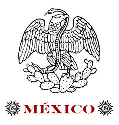 mexican eagle vector image