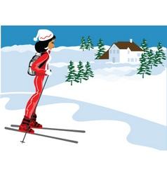 miss boo ski vector image