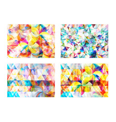 modern abstract geometric polygonal and circle vector image