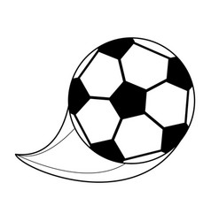 monochrome silhouette with soccer ball vector image