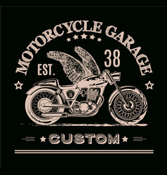 Morotcycle custom banner vector