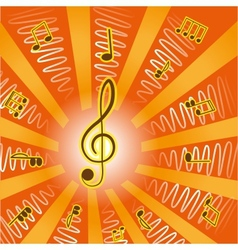 musictreble clef and notes for your design vector image