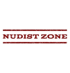 Nudist Zone Watermark Stamp vector
