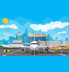 Plane before takeoff vector