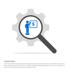 Presentation on business growth icon search glass vector