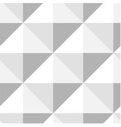 pyramid pattern seamless design in gray - white vector image