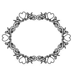 romantic vintage border frame decoration romantic vector image