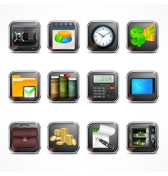 Set of business icons in vector image