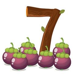 Seven eggplants vector