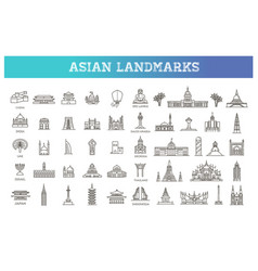 simple linear icon set representing global vector image