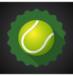 Sport Ball Tennis Flat icon background vector image