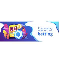 Sports betting concept banner header vector