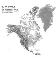 Stippled relief map north america vector