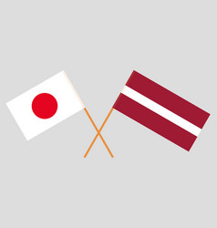 The latvian and japanese flags vector