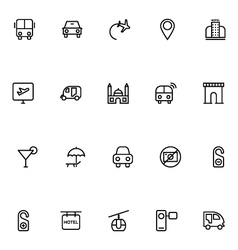 Tourism Line Icons 1 vector image