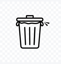 trash icon isolated on transparent background vector image