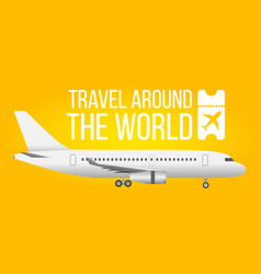 traveling by airplane concept plane on bright vector image