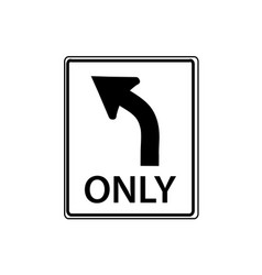 usa traffic road signs left turn only vector image