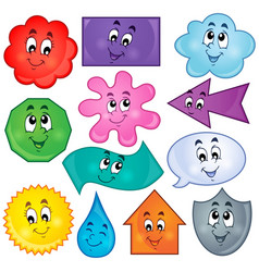 Various shapes theme image 3 vector
