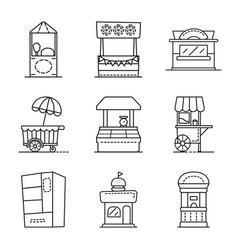 Vending and public icon vector