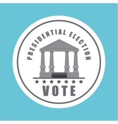 vote design over white background vector image