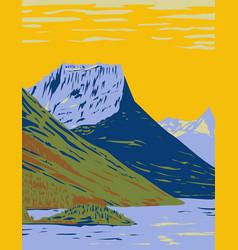 Waterton-glacier international peace park vector