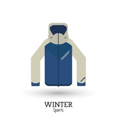 winter sport jacket warm clothes vector image