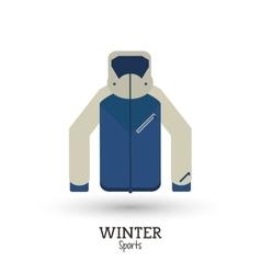 Winter sport jacket warm clothes vector