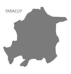 Yaracuy venezuela map grey vector