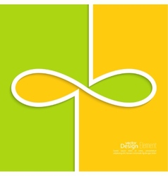 Abstract background with the sign of infinity vector