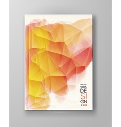 Brochure with Multicolored Blured Backgrounds vector image vector image