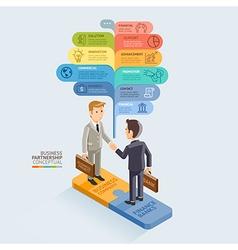 Businessman Handshake On Jigsaw Puzzle vector image