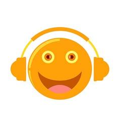cartoon listening to music vector image