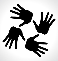 hand prints icon vector image vector image