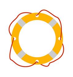 lifebuoy icon tourism equipment vector image
