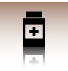 Medical container icon vector image