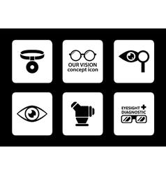 Optician icons set vector