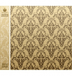 seamless royal background floral pattern vector image vector image