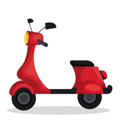 skooter motorcycle isolated icon vector image